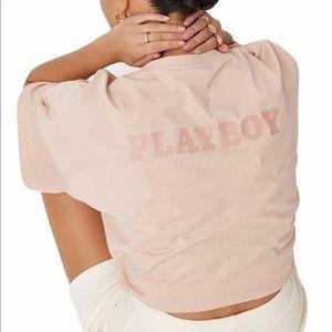 Playboy Blush Logo Oversized T-Shirt NWT